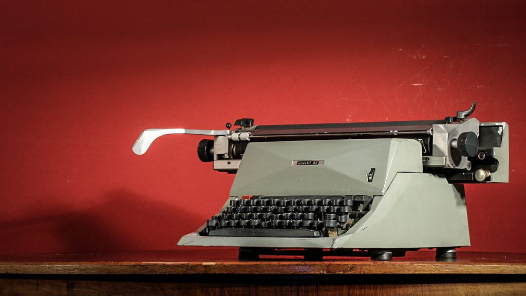 Charles Whiting Typewriter