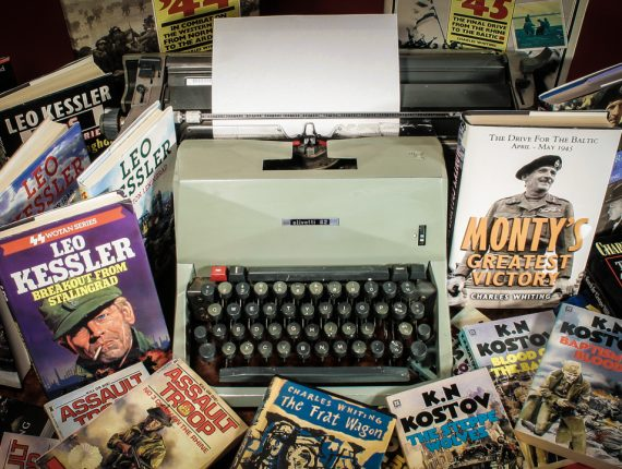 Charles Whiting Typewriter And Books