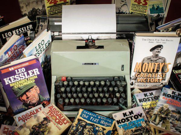 Charles Whiting Typewriter And Books